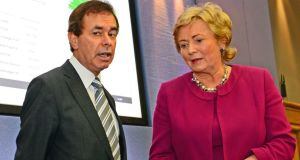 Frances Fitzgerald with former minister for justice Alan Shatter. Photograph: Eric Luke