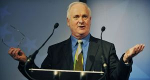 "Former Fine Gael leader John Bruton: ""The 1916 leaders explicitly took the opposite side in this war to their fellow Irishmen in the trenches."" Photograph: Aidan Crawley"