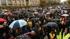 The protests have widened beyond the catchment of the fringe parties to include core voters of all mainstream parties. Photograph: Cyril Byrne/The Irish Times