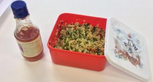 Róisín Ingle's favourite work lunch, Lebanese tabbouleh (with some sweet chilli sauce if you're feeling bold)