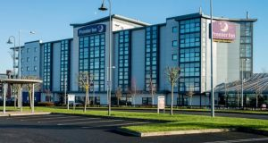 The 155-bed Premier Inn hotel at the entrance to Airside Retail Park near Swords, Co Dublin, which is being sold by Nama.