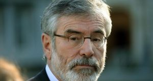 "Sinn Féin leader Gerry Adams: ""What worse smear can you put on anybody than they were part of a cover-up of rape?"" Photograph: Dara MacDónaill/The Irish Times."