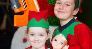 Youngsters including Orla O'Sullivan (4) pictured today  at the launch of the upcoming nine-day Christmas Toy Show at the RDS. Photograph: Andres Poveda