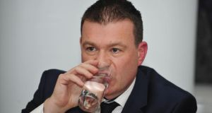 Minister for the Environment Alan Kelly: said that Irish Water was  necessary as an infrastructural  utility. Photograph: Aidan Crawley