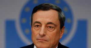 President of the European Central Bank Mario Draghi: The main message is that our balance sheet will keep expanding in the coming months. Photograph: Kai Pfaffenbach/Reuters