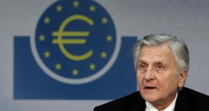 "Jean-Claude Trichet, former ECB president:  of the European Central Bank: ""The exposure of the Eurosystem and of the Central Bank of Ireland vis-a-vis Irish financial institutions has risen significantly over the past few months to levels that we consider with great concern."" Photograph: Hannelore Foerster/Bloomberg"