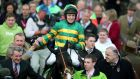 Barry Geraghty and Jezki after winning the 2014 Champion Hurdle at Cheltenham in March. Photograph: Inpho