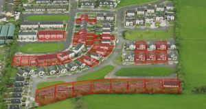 The partially built housing development in Baltinglass, Co Wicklow