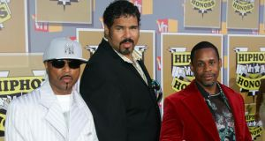 Rapper Henry 'Big Bank Hank' Jackson (centre) of The Sugarhill Gang died today of cancer-related complications at age 57. Photograph: Evan Agostini/Getty Images