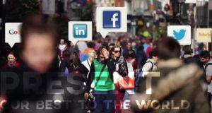 A screenshot taken from the ireland.ie video shows references to social media companies that have based themselves in Ireland in recent years.
