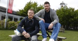 Sean Cronin and Fergus McFadden at Griffith College. Photograph: Conor McCabe