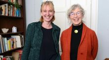 Art historians Rachel Moss (left) and Catherine Marshall. Photograph: Eric Luke
