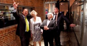 President Michael D Higgins, his wife, Sabina, and Christopher Till, director of the Apartheid Museum in Johannesburg. Photograph: Chris Bellew/Fennell Photography