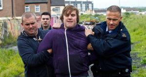 Peter Coonan (centre), who plays Fran, is seen in the final episode of series five.