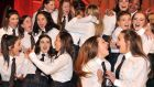 Moate Community School students celebrate their win, which earned them prize money of £4,000 (€5,000). Photograph: Justin Kernoghan