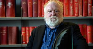 Frank McGuinness in Pearse Street Library, Dublin last year. Photograph: Eric Luke