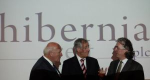Colm Barrington, non-executive director, Hibernia Reir, Daniel Kitchen, chairman, and Terence O'Rourke,  non-executive director