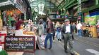 Borough Market in London: come early as all the good stuff goes fast