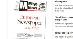 "The Mayo News was founded in 1892 by nationalist PJ Doris, espousing an ethos of ""independence and progressiveness, while serving the local community"". Photograph: www.mayonews.ie"