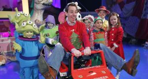 There but never in the way: Ryan Tubridy with some of the children appearing on the RTÉ Christmas special