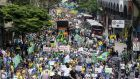 An anti-government demonstration in   Sao Paulo recently. Photograph: EPA/Aaron Cadena Ovalle