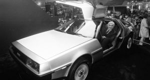 John DeLorean, the innovative car maker who left a promising career in Detroit to develop the short-lived gull-winged sports car in Belfast. Photograph: PA