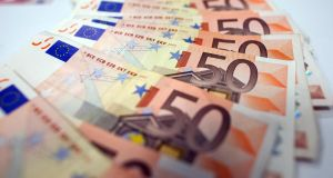 The euro neared a two-year low against the dollar on Monday as investors bet the European Central Bank would ease monetary policy more aggressively. Photo: Bloomberg