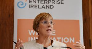 Julie Sinnamon, chief executive of Enterprise Ireland. Ministerial briefing notes warned  the bulk of  cuts under the employment control framework would fall on the State agency