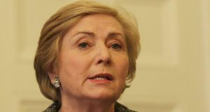 Minister for Justice Frances Fitzgerald: has abandoned moves by her predecessor, Alan Shatter, to lower the age of sexual consent from 17 to 16. Photograph: Stephen Collins/Collins Photos