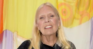 Soundtrack to an era: Joni Mitchell in California last month. Photograph: Stefanie Keenan/Getty