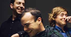 Heart and soul: Gerrit Welmers, Samuel T Herring and William Cashion of Future Islands. 'Everyone wants us to keep growing. I was like, can we stop growing this year and leave something for next year?' Photograph: Timothy Saccenti
