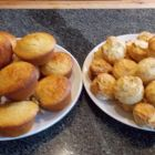 Stephen Lucek's bacon, maple and pecan cornbread muffins and buttermilk biscuits