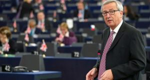 European Commission president Jean-Claude Juncker addresses the European Parliament to present a plan on growth. Photograph: Reuters