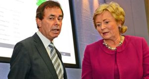 "Former minister for justice Alan Shatter   and his successor  Frances Fitzgerald:  said he was ""very disappointed"" that  Ms  Fitzgerald appeared to be opting for a ""shorter Bill ""  on immigration.  Photograph: Eric Luke/The Irish Times"