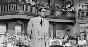Gregory Peck as  Atticus Finch, in the 1962 film version of To Kill a Mockingbird. If you are only going to write one novel, make it as good as this one in which Lee created Scout and captured the unforgettable voice of childhood's dawning awareness of the unjust adult world. Photograph: AP