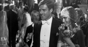 Robert Redford as Jay Gatsby and Mia Farrow as Daisy, in the 1974 film version of The Great Gatsby. As a parable of innocence corrupted, written by the doomed F Scott Fitzgerald at his most inspired, iit s difficult to surpass. Photograph: AP
