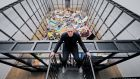 Bin man: Michael Landy with his Art Bin installation. Photograph: Carl de Souza/AFP/Getty
