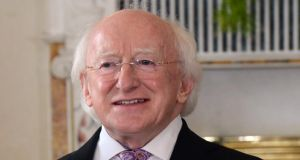 President Michael D Higgins said  Thomas Davis's most famous work was 'A Nation Once Again'. Photograph: Cyril Byrne/The Irish Times