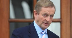 "Enda Kenny: voters must choose between pro-enterprise parties or those on ""the left and ultra-left"". Photograph: The Irish Times"