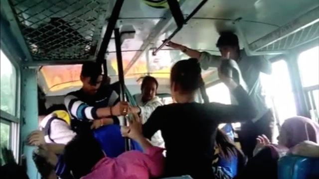 harassment of women in the bus
