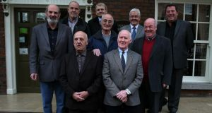 A number of the surviving 'Hooded Men' who hope the Government will apply to the European Court of Human Rights over their human rights case. Photograph: Brian Lawless/PA Wire