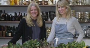 Claire Ryan (right) and Patsy Wrafter of the Informal Florist. Photographs:  Richard Johnston