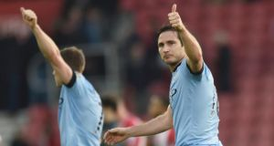 Manchester City's Frank Lampard: on January 31st Chelsea entertain City at Stamford Bridge in an encounter that could have a defining influence on who takes the title this season.