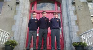 Language students – Christopher Hunt (left); Paul Flynn and Aaron Hannon