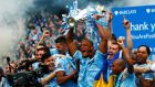 Manchester City's Premier League victory last season helped the club record record revenues of £346.5million (€442 million), a 28 per cent increase. Photograph: Reuters