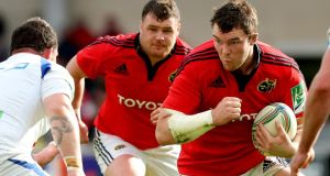 Munster's Peter O'Mahony: his side is seeking its 100th win in European rugby when Clermont visit Thomond Park on Saturday. Photograph: James Crombie/Inpho