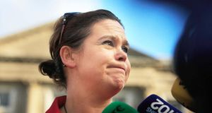 Sinn Fein's Mary Lou McDonald: brought up the dreaded Ansbacher accounts. Photograph: Collins