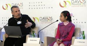Good example: Khadija Niazi at Davos – the 12-year-old from Pakistan became the youngest person ever to complete Udacity's online physics course, passing with highest distinction