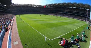 Croke Park: under the deal reached last month, the 82,000-capacity stadium would be used for at least both semi-finals and the final of the 2023 Rugby World Cup if the bid was successful. Photograph: Inpho/Cahill Noonan.