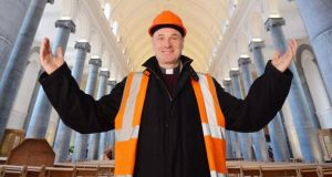 Fr Tom Healy, photographed in the rebuilt St. Mels Cathedral in Longford. Photograph: Alan Betson / The Irish Times